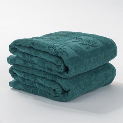Ručník tmavě zelená, 50 x 90 cm, sada 2 ks