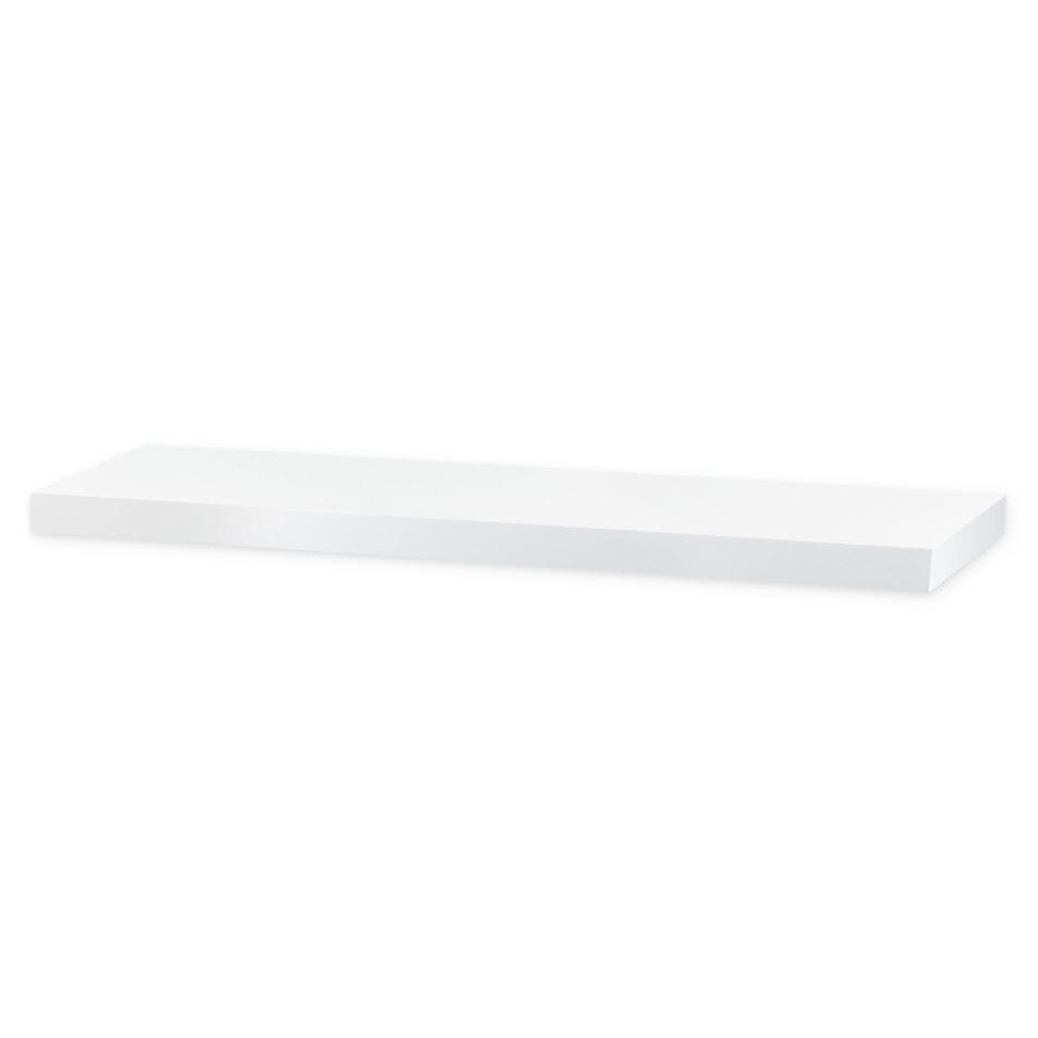 Nástěnná polička Shelfy 80 cm, bílá, 80 cm
