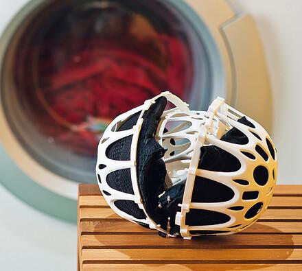 Ochranná prací koule na praní podprsenek, bílá, pr. 15 cm