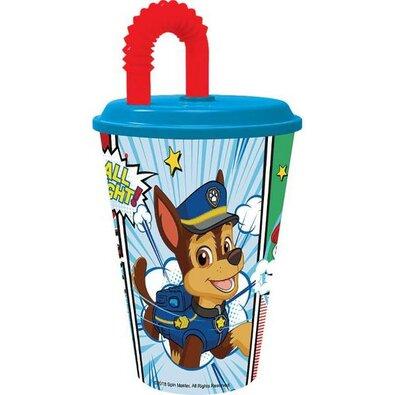 Műanyag gyerek pohár szívószállal Paw Patrol Paw Patrol 430 ml