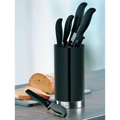 Kela 5-częściowy komplet noży kuchennych w stojaku ACIDA, czarny