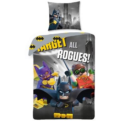 Lego Batman pamut ágynemű, 140 x 200 cm, 70 x 90 cm