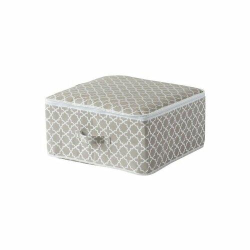 """Compactor Textilný úložný box na zips Compactor - """"Madison"""" 46x46x20.5 cm"""
