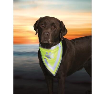 Reflexní šátek Trixie pro psa, M - L
