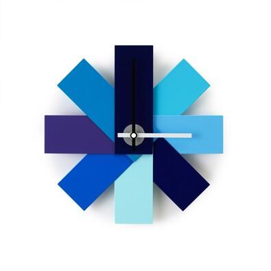Nástěnné hodiny Watch me, modré