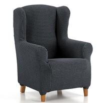 """Multielasztikus """"füles"""" fotel huzat szett, kék, 70 - 110 cm"""