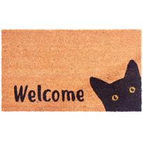 Cat Welcome kókusz lábtörlő, 43 x 73 cm