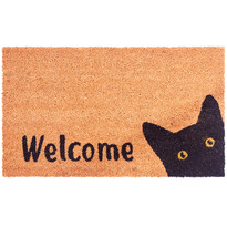 Covoraș din cocos Cat Welcome, 43 x 73 cm
