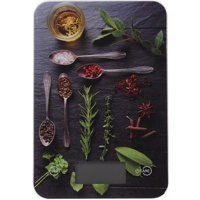 Cântar digital de bucătărie Spices, 5 kg, rosemary