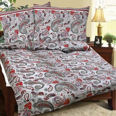 Lenjerie pat 1 pers. Caşmir, creponată, 140 x 200 cm, 70 x 90 cm