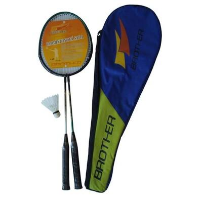 Sada badmintonové pálky a košíček