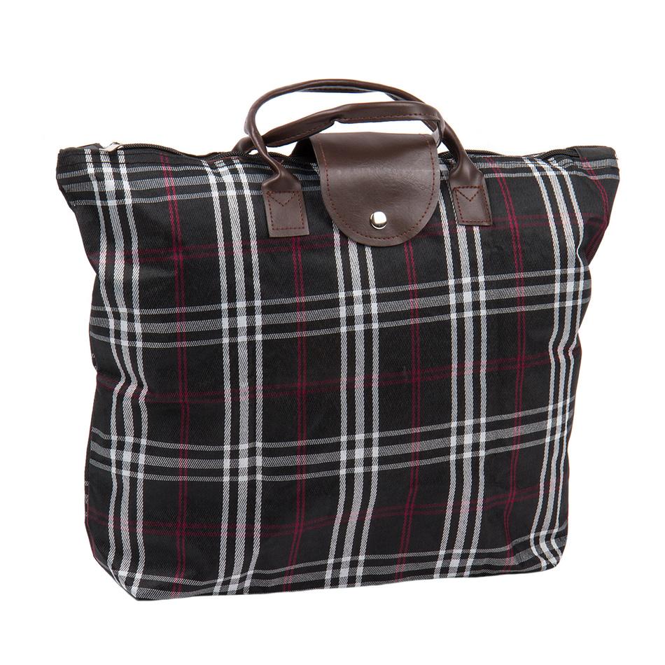 Skladacia taška Kocka, čierna