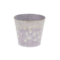 Kovový obal na kvetináč Daisy 14,5 x 13 cm, fialová