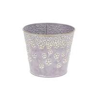 Metalowa osłonka na doniczkę Daisy fioletowy, 14,5 x 13 cm