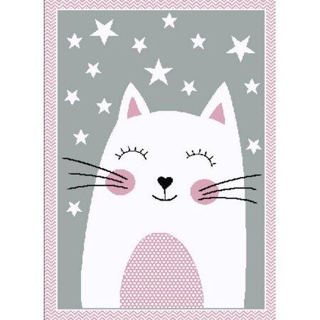 Kusový detský koberec Kiddo 0132 pink, 80 x 150 cm