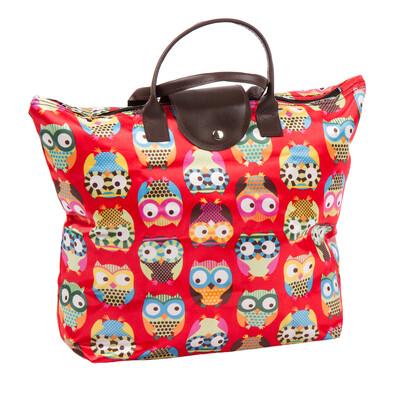Skladacia taška Sovičky, červená