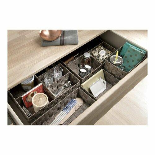 Compactor Úložný organizér do zásuvky M TEX, 18 x 12 x 7 cm, taupe