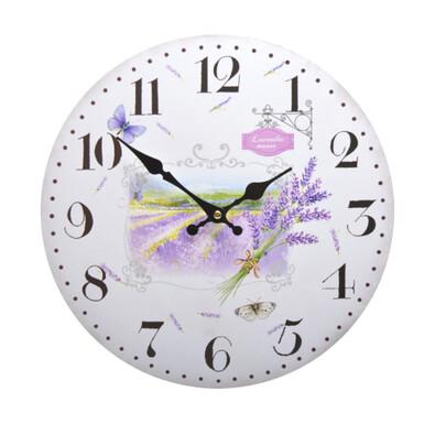 Zegar ścienny Lawenda HLC40090