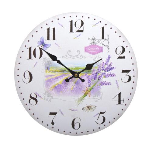 Nástenné hodiny Levanduľa HLC40090