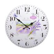 Nástěnné hodiny Levandule HLC40090