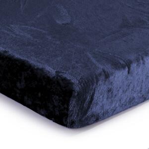 JAHU Prostěradlo mikroplyš tmavě modrá, 180 x 200 cm