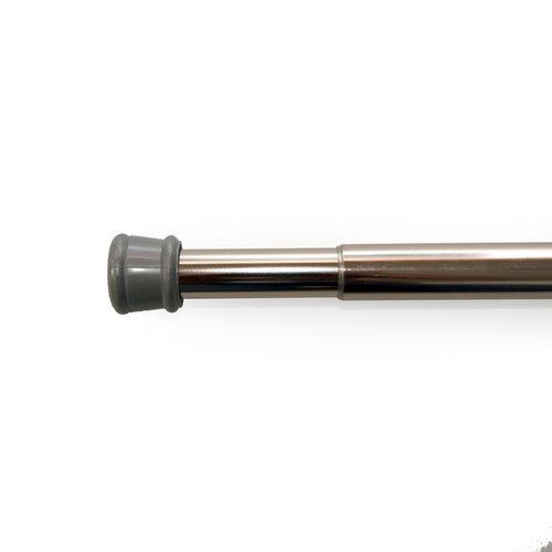 Rozpěrná tyč nikl stříbrná, 125 - 225 cm