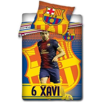 Bavlněné povlečení FCB Xavi, 140 x 200 cm, 70 x 80 cm