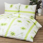 Bavlněné povlečení Anežka zelená, 140 x 200 cm, 70 x 90 cm