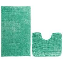 AmeliaHome Komplet dywaników łazienkowych Bati turkusowy, 2 szt. 50 x 80 cm, 40 x 50 cm