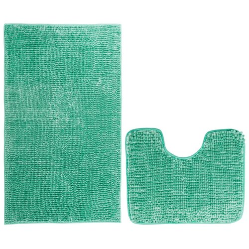 AmeliaHome Bati fürdőszobai kilépő szett, türkiz, 2 db, 50 x 80 cm, 40 x 50 cm