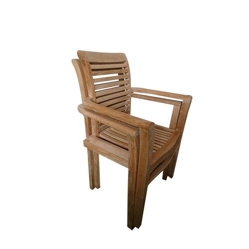 Stohovatelná zahradní židle Stucking, teak