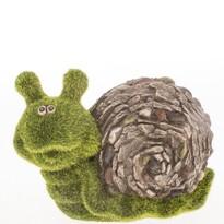 Dekoracja ogrodowa Ślimak z mchu, 19,5 x 13,5 x 9,5 cm