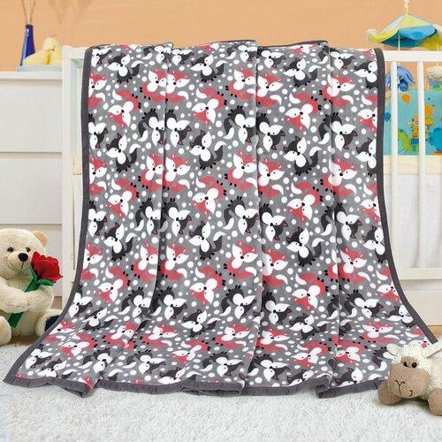 Bellatex Dětská deka Ella Lištičky, 100 x 155 cm
