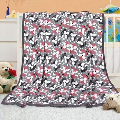 Pătură de copii Ella Frunze, 100 x 155 cm