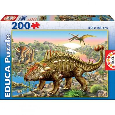 Puzzle Dinosauři Educa, 200 dílků, vícebarevná