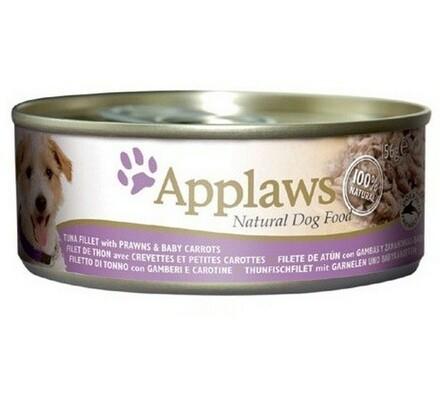 Applaws konzerva pro psy tuňák, krevety, baby karo