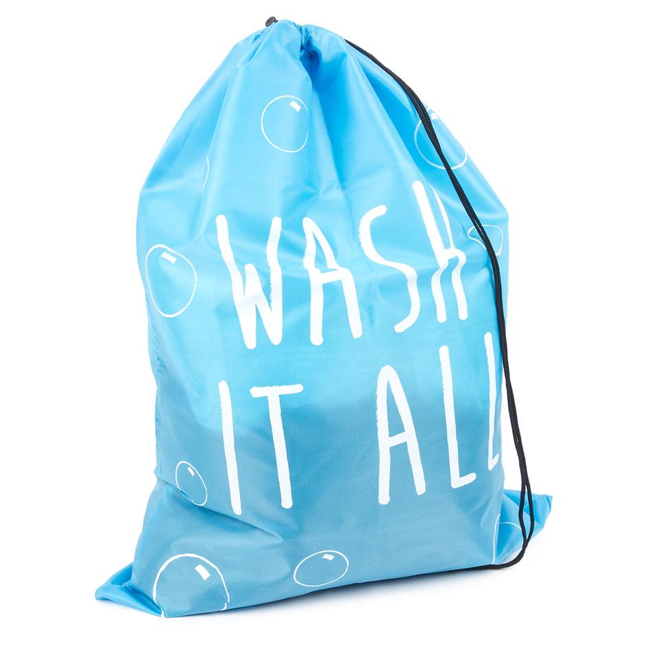 Pytel na prádlo 50 x 70 cm, modrá