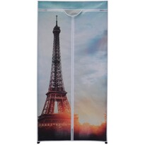 Textilná šatníková skriňa 75 x 160 x 45 cm, Paris