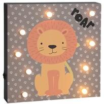 Nástěnná LED dekorace Hatu Lev, 26 x 4 x 26 cm