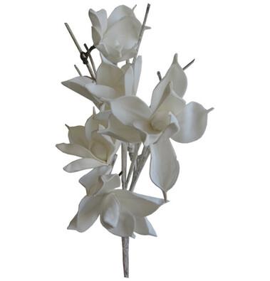 Umělá květina magnólie bílá