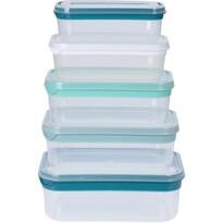 Koopman 5dílná sada obdélníkových plastových dóz s víčkem