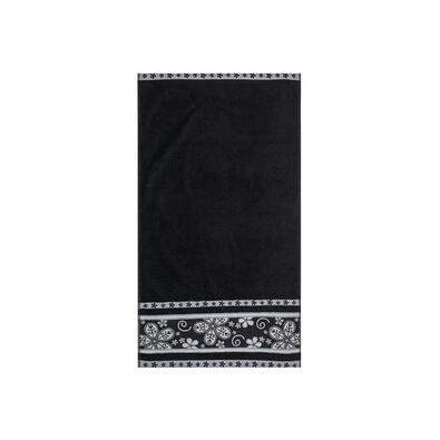 Ručník Fiora černá, 50 x 90 cm