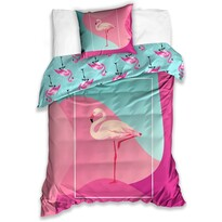 Pamut ágyneműhuzat Flamingó, 140 x 200 cm, 70 x 90 cm