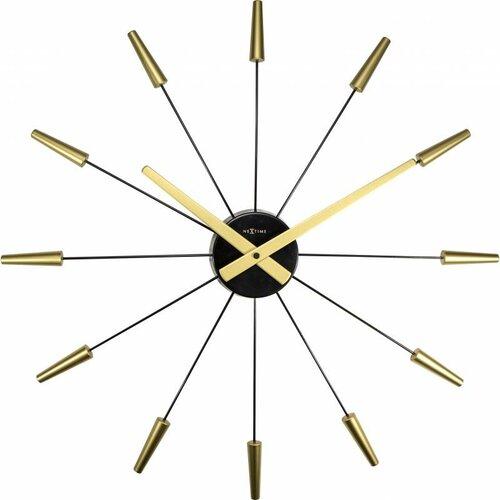 Nextime Plug Inn Gold 2610go nástěnné hodiny