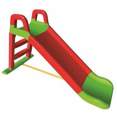 Doloni Dětská skluzavka červeno-zelená, 140 x 85 cm