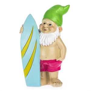 Zahradní trpaslík se surfem, 20 cm