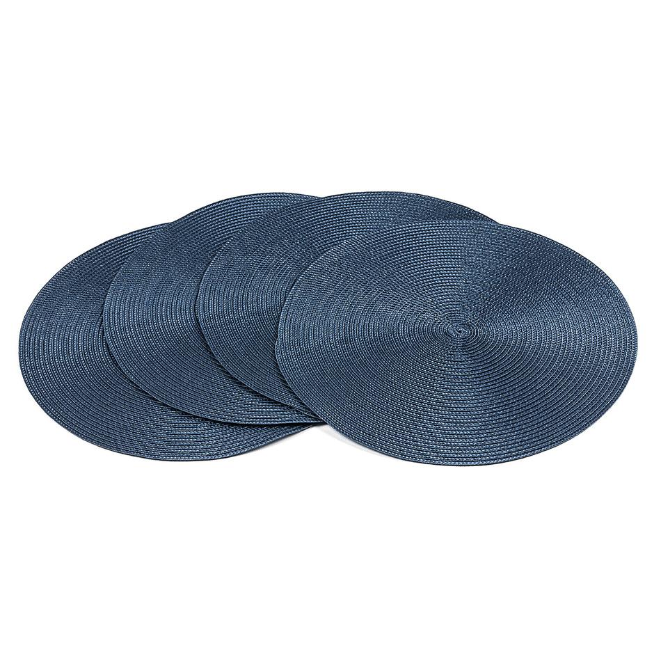 Jahu Prestieranie Deco okrúhle tmavo modrá, pr. 35 cm, sada 4 ks