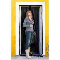 BRILANZ Siatka na drzwi przeciw owadom, czarny