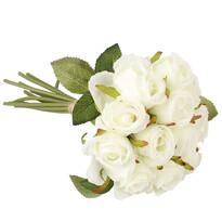 Sztuczna wiązanka róż, biały