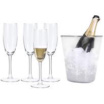 5-dielna sada na šampanské